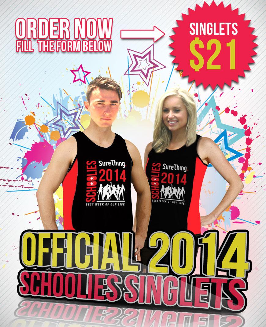 Official Schoolies 2014 Singlet
